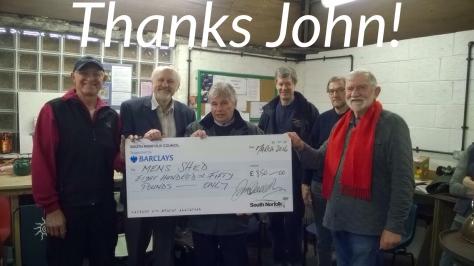 John Overton's Big Cheque