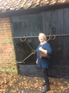 Carolyn visiting theShed October 2016