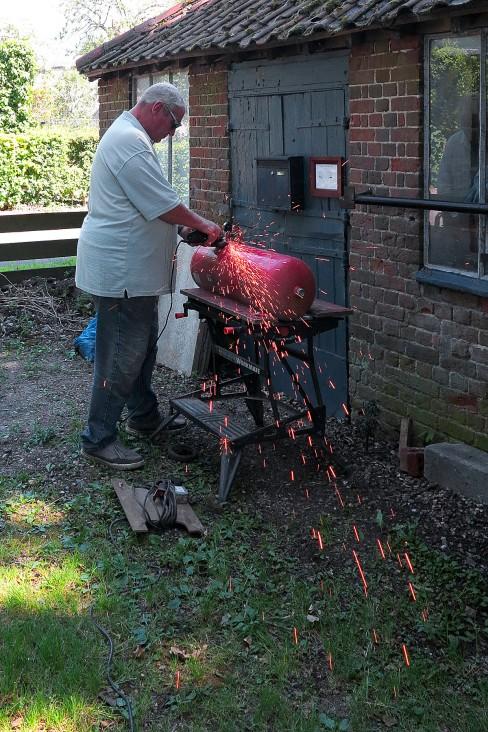 John making The Woodbuner