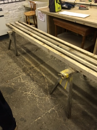 Making timber racks.