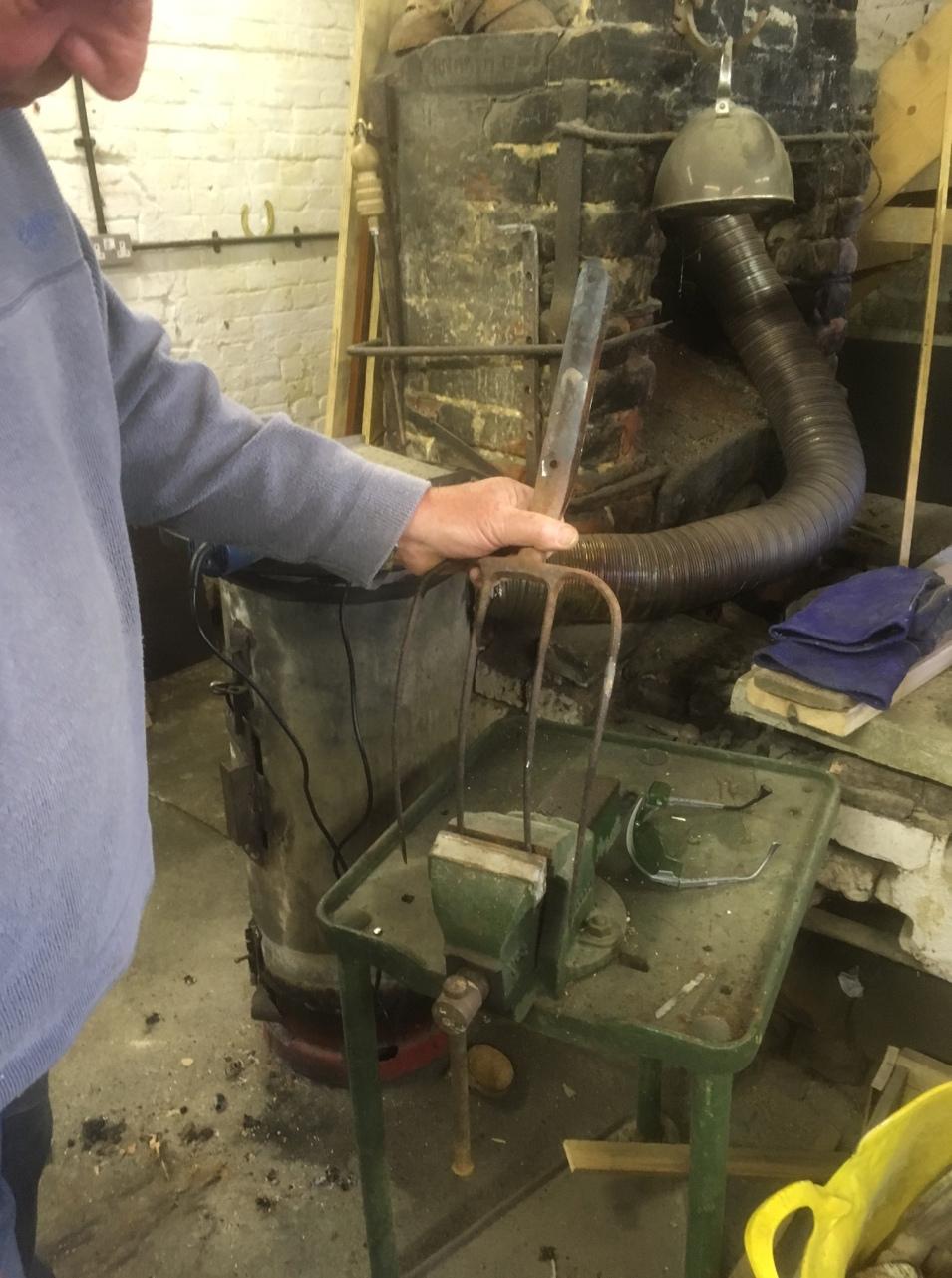 Fork repair in progress.