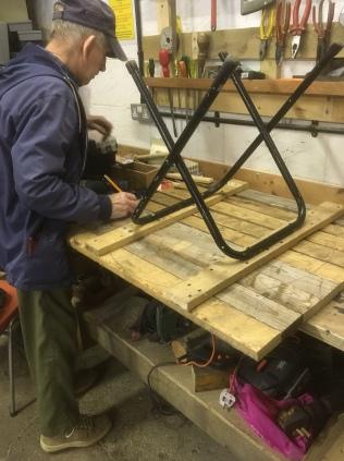Recycling a frame into a Garden Table