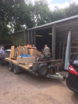 Unloading at The Barn