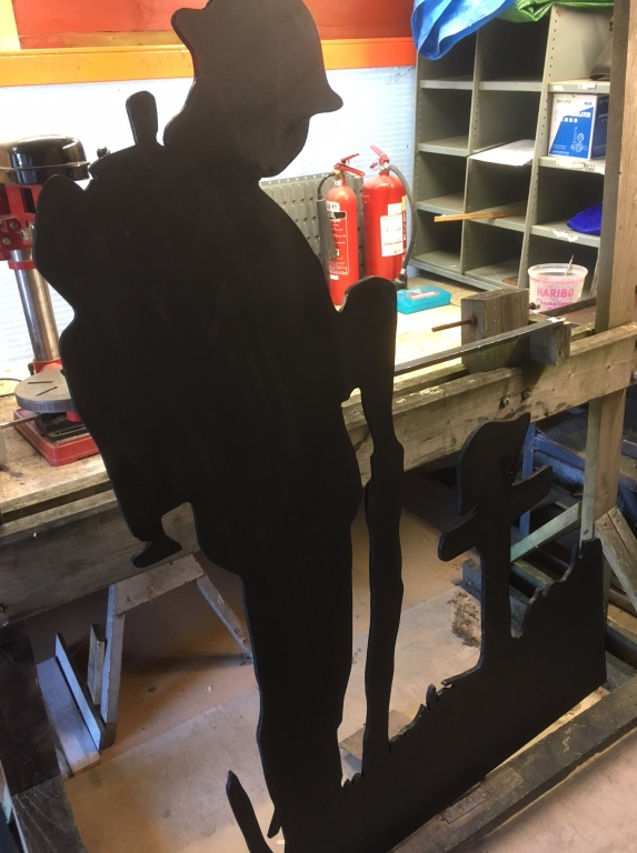 One silhouette completed