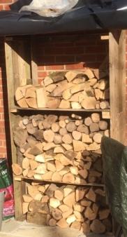 Pallet Wood Log Store