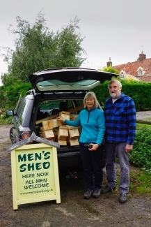 Bat boxes collected.