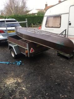Canoe repair project arrives