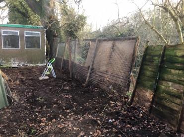 Chicken coop repairs