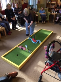 Crazy Golf set in action